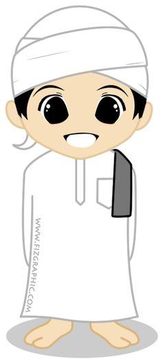 Fizgraphic Design & Printing: Freebies Doodle Muslim Pergi Haji Space Classroom, Muslim Images, Islamic Cartoon, Islam For Kids, Anime Muslim, Cartoon Boy, Green Led, Art Drawings For Kids, Islamic Pictures
