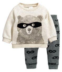 Sweater en broek | Lichtbeige gemêleerd | Kinderen | H&M NL