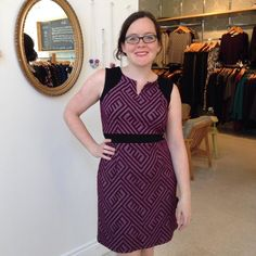 I'm loving all the new #cherrybobin dresses! They are perfect for transitioning from the office to the evening.  #wardrobestaple #fashionstatement #madeincanada #madeinquebec #slowfashion #femaledesigner #canadiandesign #canadiandesigner #outfitinone #workappropriate #dress