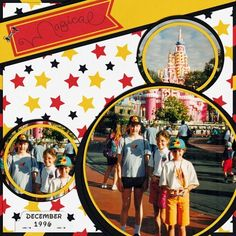Disney Scrapbook Page Layout - Cinderellas Castle Icing on the Cake by Donna