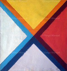 """""""X 2"""" , acrylic on canvas, 34 x 32 cm, 2013 By Diego Manuel"""