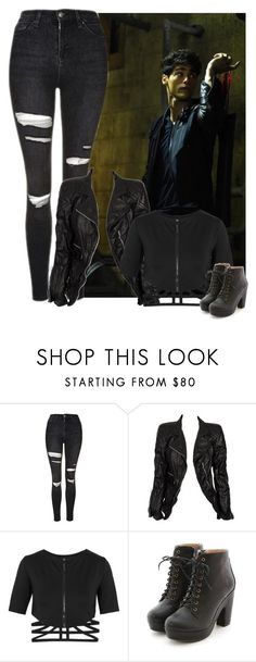 """Training with Alec"" by lucia-luliq-krisova ❤ liked on Polyvore featuring Topshop, Marc Jacobs, CHROMAT, Miss Dora, workout, fight, training and shadowhunters"