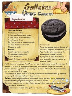 Cookies de Oreo. Pastry Recipes, My Recipes, Baking Recipes, Sweet Recipes, Cookie Recipes, Dessert Recipes, Nutella Oreos, Biscuits, Pan Dulce