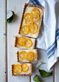 Meyer Lemon Cream White Chocolate Tart - Style Sweet CA Lemon Desserts, Lemon Recipes, Just Desserts, Sweet Recipes, Dessert Recipes, Slow Cooker Desserts, Sweet Pie, Sweet Tarts, Lemon Cream
