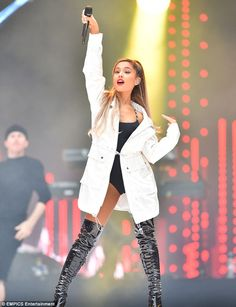 Dangerous woman: Ariana Grande put on a racy display for her performance at Captial FM's Summertime Ball on Saturday