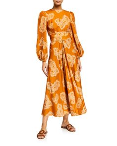 Zimmermann at Neiman Marcus Trendy Fashion, Luxury Fashion, Womens Fashion, Lace Embroidery, Resort Wear, Paisley Print, Neiman Marcus, Wrap Dress, Feminine