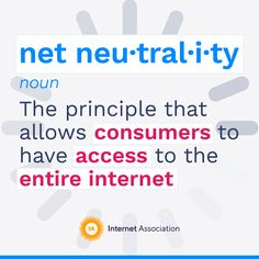 Take Action: Help Save Net Neutrality - Internet Association Net Neutrality, We Need You, Take Action, Internet, How To Plan