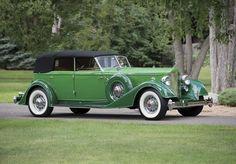 1934 packard twelve 1108 convertible sedan.