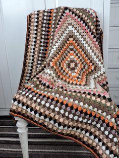 Crochet Blanket Autumn Colours