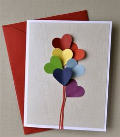 DIY card - great for Valentine's Day, Father's Day, Mother's Day, Birthday etc. #paper #craft How to: Dye Clear Glass ANY Color (A New Techn...