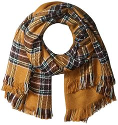 Vero Moda Women's Bente Plaid Print Long Scarf -- This is an Amazon Affiliate link. Want to know more, click on the image.