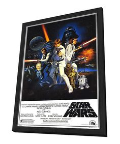 Take a look at this Full Cast 'Star Wars' Framed Poster on zulily today!