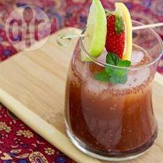 Suco de morango com hortelã e chia @ allrecipes.com.br