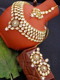 Kundan Necklace Jewelry Set