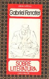Coberta del llibre Sobre literatura.  Aquest volum va ser escrit al 1979 i van ser venuts 62 edicions.