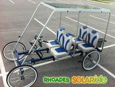 Rhodes Car solar powered electric/bicycle car.