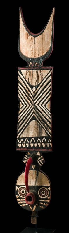 "Africa | Zoomorphic plank mask ""nwantantay"" from the Bwa people of Burkina Faso 