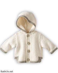 Bebek Hırkası Modelleri 2013 Gt Gt Beyaz Kapşonlu Hırka