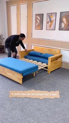 Diy Home Furniture, Space Saving Furniture, Furniture Ideas, Furniture Design, Sofa Bed For Small Spaces, Furniture For Small Spaces, Bedroom Closet Design, Diy Bedroom Decor, Pooja Room Door Design