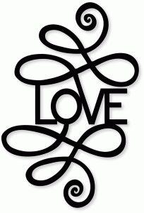 Silhouette Design Store - View Design #83142: ornate 'love'