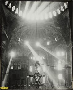 Hagia Sophia, 1948. Studies of light [this is why i have to go there before i die.]