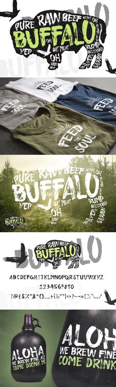 Buffalo - Display Typeface. Display Fonts. $10.00