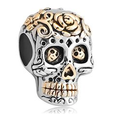 Christmas Gifts New Jewelry Skull Silver Plated Charm Dia De Los Muertos Sale Cheap Beads Fit Pandora Charms Bracelet, http://www.amazon.com/dp/B00XKQUOM0/ref=cm_sw_r_pi_awdm_In3Fwb0DDBAS4