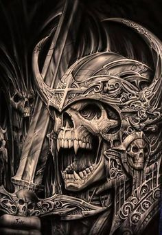 Tattoo's For > Traditional Viking Skull Tattoo