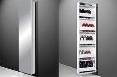 Sydney Shoe Cupboard In High Gloss White 55607W1