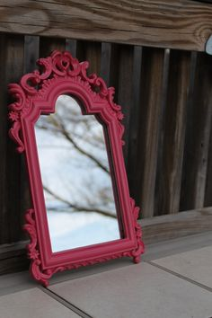 I want bold, whimsical mirrors like this...