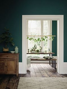Mind Blowing Cool Ideas: Classic Home Decor Country home decor accessories thrift stores.Home Decor Accessories Thrift Stores home decor farmhouse wrap around porches.Home Decor Living Room Color. Living Room Green, Green Rooms, Green Dining Room, Dining Rooms, Earthy Living Room, Green Kitchen Walls, Accent Walls In Living Room, Dining Tables, Room Colors