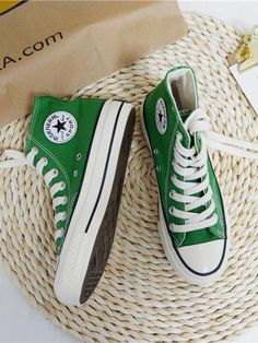 Apr 2020 - Classic Canvas High Top Sneakers – oshoplive Tennis Shoe Heels, Sneakers Fashion, Fashion Shoes, High Top Sneakers, High Heels, High Tops, Buy Shoes, Women's Shoes, Shoes Style