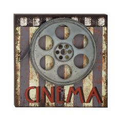 Theater Movie Cinema Film Reel Hollywood Wall Art Theatre Decor