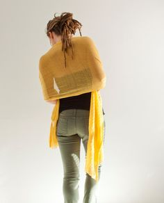 Hand-shredded fiber scarf