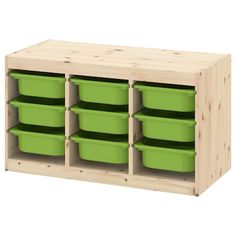 TROFAST Storage combination with boxes, pine light white stained pine, green, - IKEA Ikea Trofast Storage, Kura Ikea, Lego Storage, Wall Storage, Storage Boxes, Storage Ideas, Smart Storage, Storage Baskets, Windows