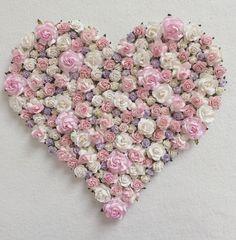 Por encargo de corazón floral / / regalos para por AnnekajamBabyArt