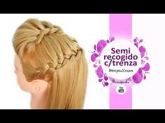 Peinados Semirecogidos con Trenzas Faciles y Rapidos para Niñas, Fiestas y Escuela - YouTube