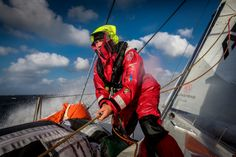 June 09, 2015. Leg 8 to Lorient onboard Dongfeng Race Team. Day 02. We wish Lorient was further away to give us more time and opportunities to catch the other boats. Kevin Escoffier Yann Riou / Dongfeng Race Team / Volvo Ocean Race