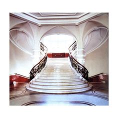 Grand Staircases Luxury Interior Design Journal ❤ liked on Polyvore featuring home, home decor and stationery
