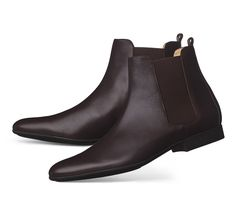 Hermes men's low boot in mocha calfskin with black mini H rubber sole