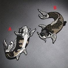 Pesce ferro-su Appliques ricamati, adesivo ricamato di fiori, patch per abito Supplies(159-49)