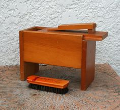 Vintage Shoe Shine Kit / Box by MysticLily on Etsy, $23.00