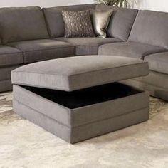 Storage Ottoman in Gray | Nebraska Furniture Mart