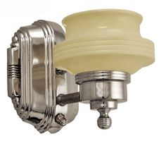 Art-Deco-Streamline-Modern-Wall-Sconce-(185-ZNNI-0350)   100W or 75W LED   $185.00 w/o shade, $220.00 w/ shade