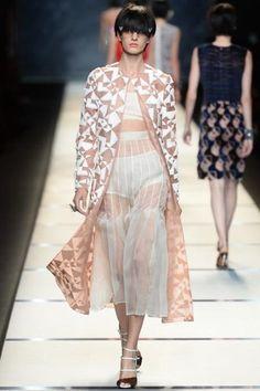 Sfilata Fendi #Milano - #Collezioni Primavera Estate 2014 - #Vogue #mfw #ss2014 #Fendi