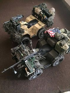 Military Humor, Military Weapons, Military Action Figures, Off Road Adventure, Military Modelling, Army Vehicles, Jeep Models, Military Diorama, Modern Warfare
