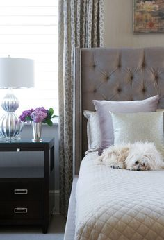 This bedroom has metallic pieces to give it a #glam look. #HomeGoodsHappy