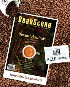 """17:42 Sydney time...We are very excited for our study on particle size """"SIZE matters"""" to be published in the upcoming June 2016 issue of @beanscenemag Thank you and we appreciate your continued support and look forward to more coffee science! About @beanscenemag...BeanScene is Australias world-class coffee magazine chock-full of caffeinated content. Engage with stories and news that reflects our vibrant and growing coffee industry including insightful barista and icon profiles inspiring…"""