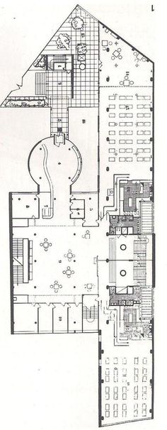 """Le corbusier's typical """"floor plan for the """"cite the refuge"""" -1929"""