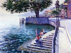 When miss summers, look at the paintings by this artist. It is called Monet twenty-first century